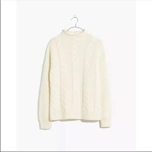 NEW Madewell Grenville Cable Knit Sweater